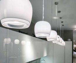 Новая экспозиция светильников Vistosi в салоне нашего партнера МБТМ