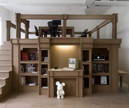 В Голландии дизайнеры сделали офис из картона
