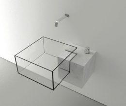 Минималистичный дизайн умывальника для ванной