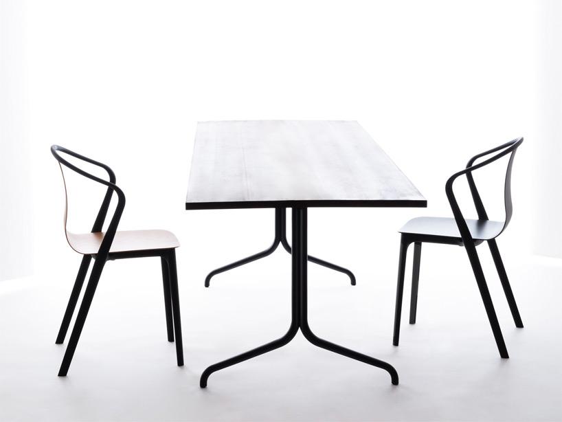 Элементы коллекции «Бельвиль» — прямоугольный стол и кресла