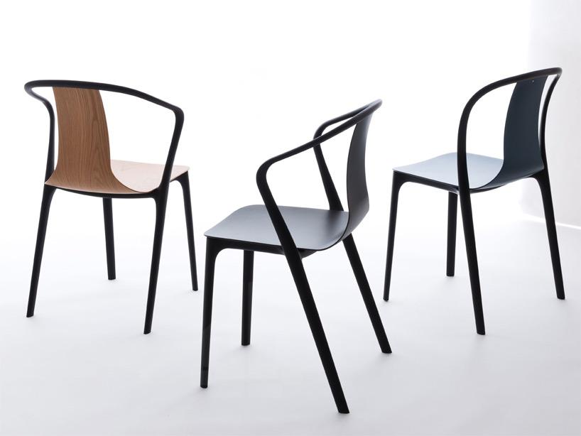 в стульях «Бельвиль» сочетаются разные виды материалов