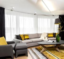 Модная квартира от дизайн студии Momi Studio