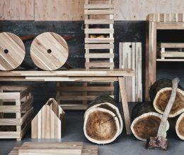 Новая коллекция Skogsta от ИКЕА из твердой древесины.