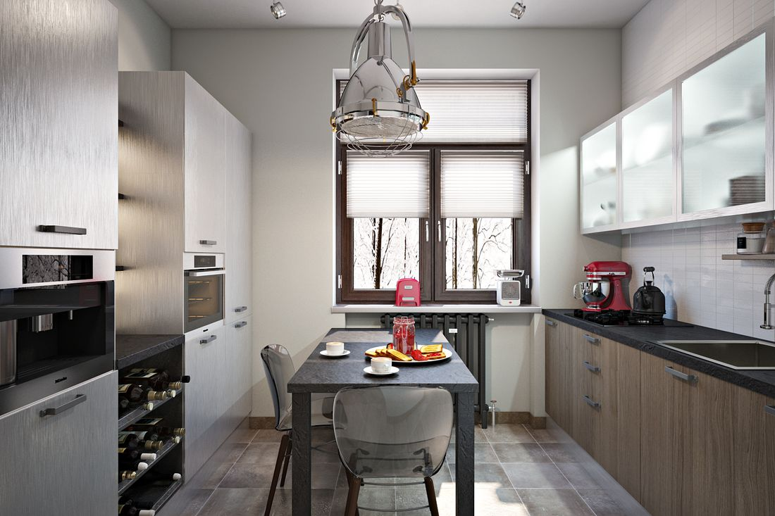 Разнообразие кухонных фасадов.