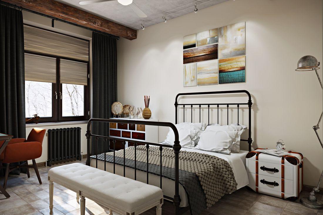 Кованная кровать.