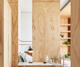 Невероятно компактный дом — 33 квадратных метра с использованием естественного декора