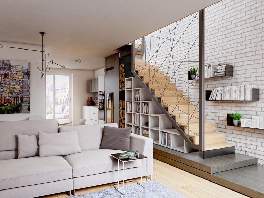 Геометрические ограждения для лестниц из проволоки