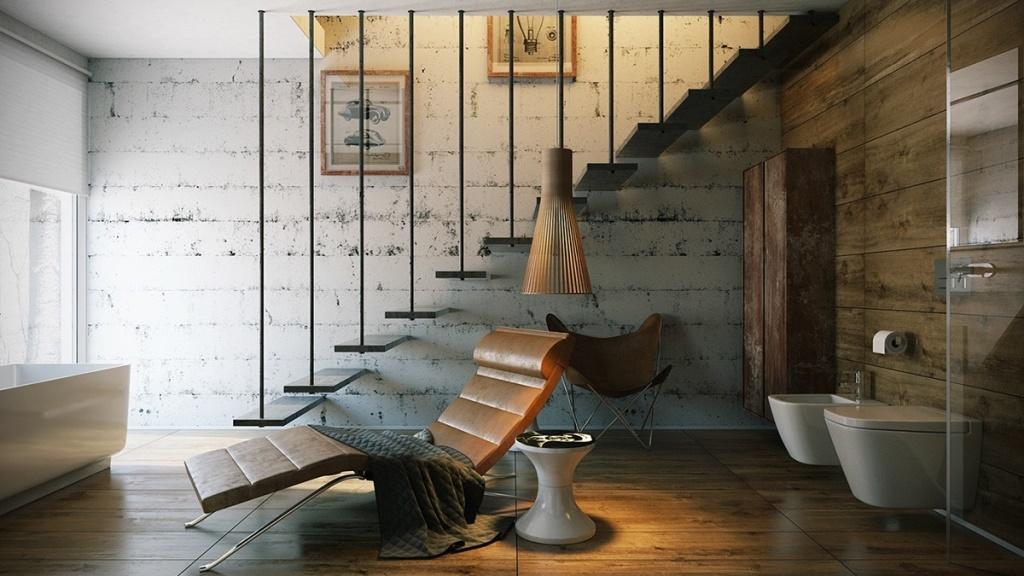 Консольная лестница с подвешенным дизайном и увлекательной композицией.