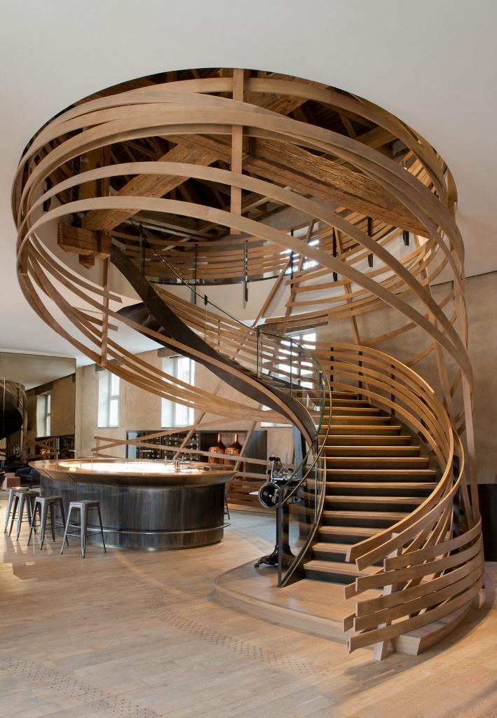 Лестница в отеле Les Haras в Страсбурге