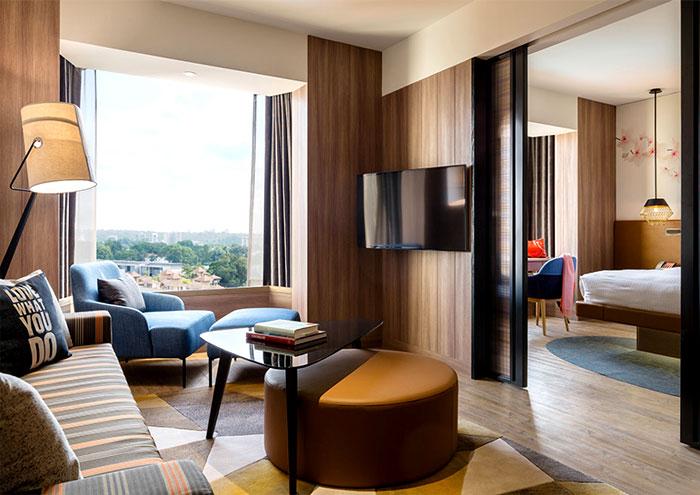 Тенденции современного дизайна в обновленном отеле Jen Tanglin в Сингапуре,