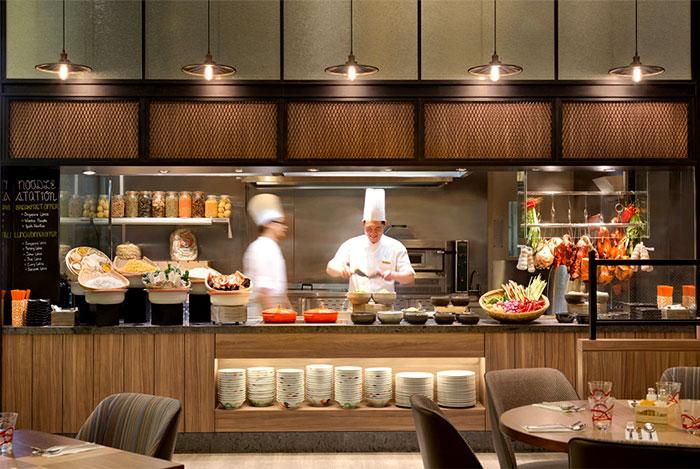 Зона поворов в ресторан в отеле в современном стиле