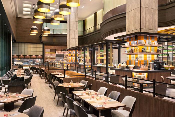 Ресторан в отеле в современном стиле