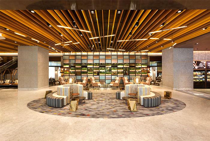 Зона ожидания в отеле в современном стиле