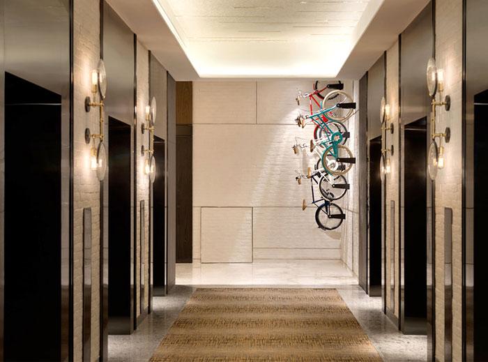 Велосипеды, как часть декора отеля