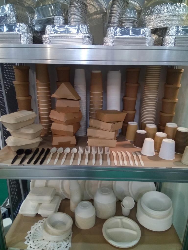 Одноразовая эко-посуда одноразовая посуда от компании ЛЕКС (LEX) на выставки Пир-2017