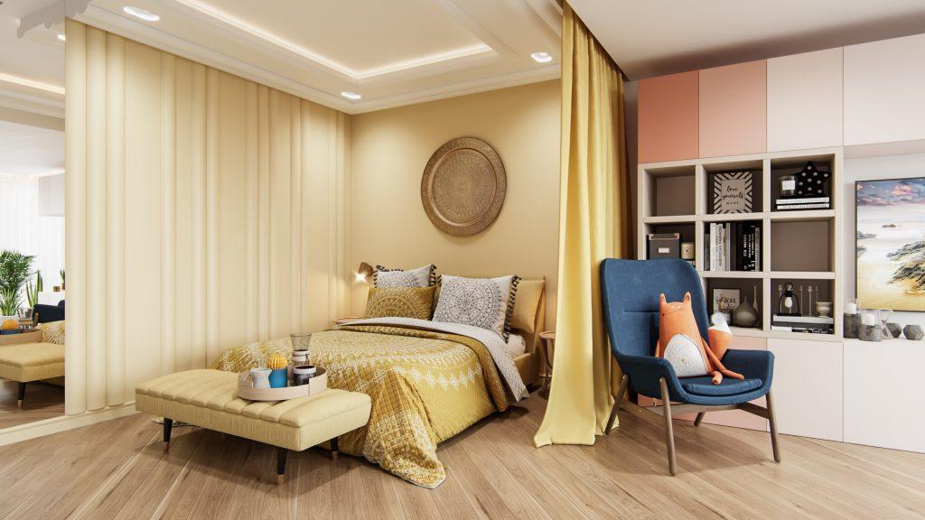Спальная комната как продолжение гостиной