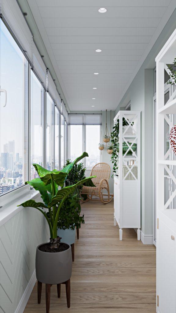 Балкон является продолжением интерьера