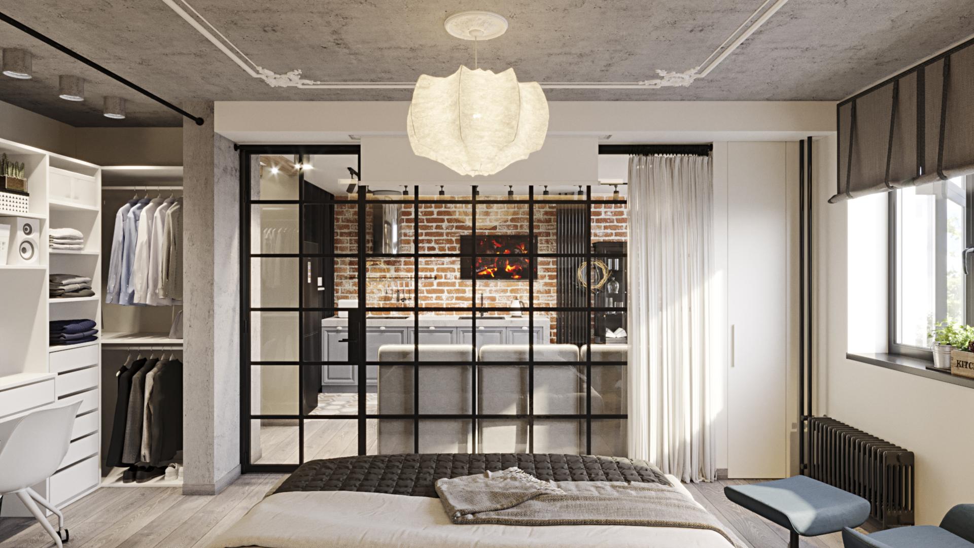 Кухня и спальная комната