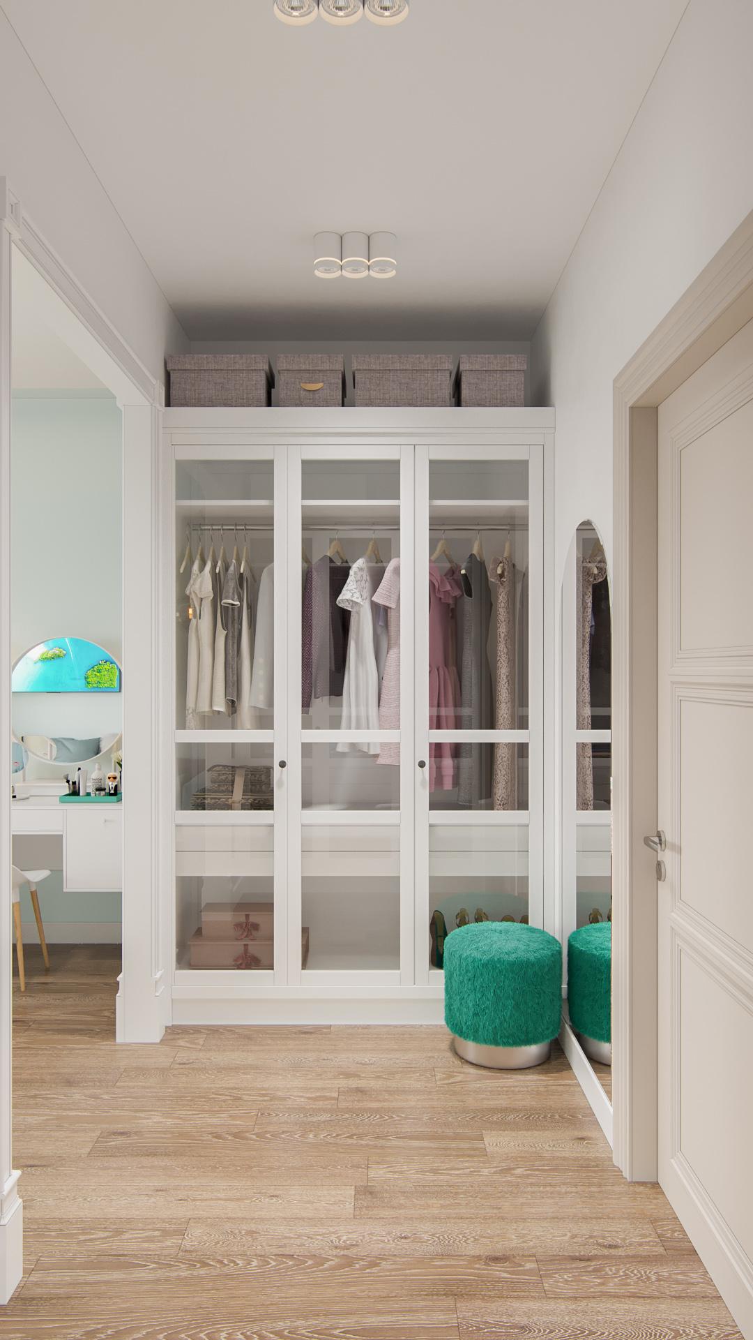 Простое решение в гардеробной зоне